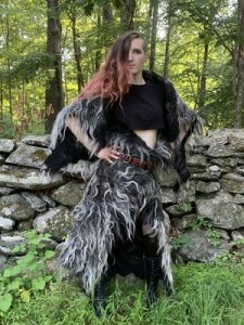 felted clothing made from Karakul wool