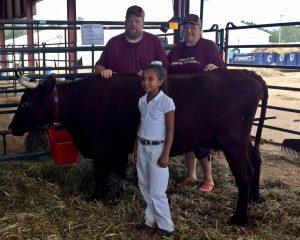 Van Ord family with a Milking Devon