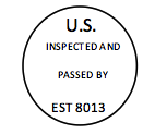 Meat Inspection Stamp