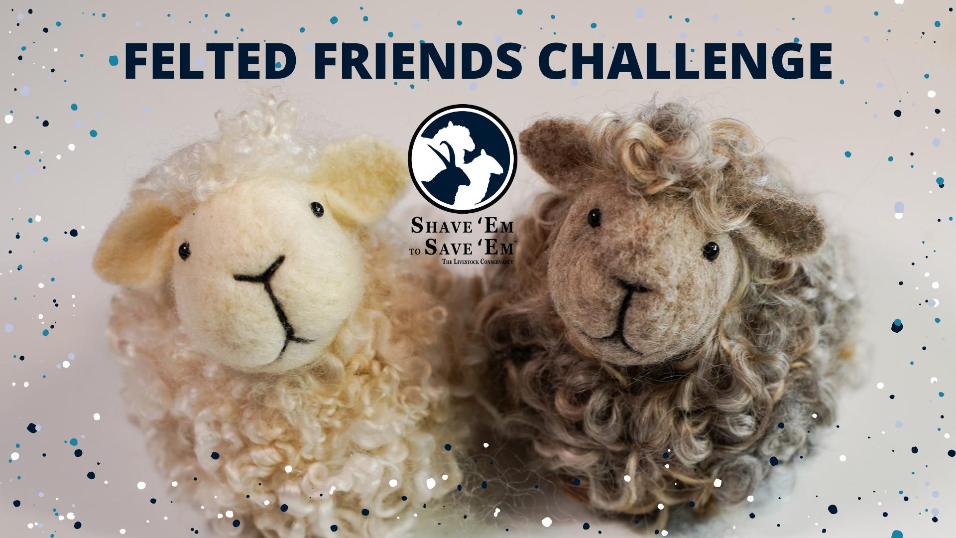 Needle Felted Friends Fiber Challenge